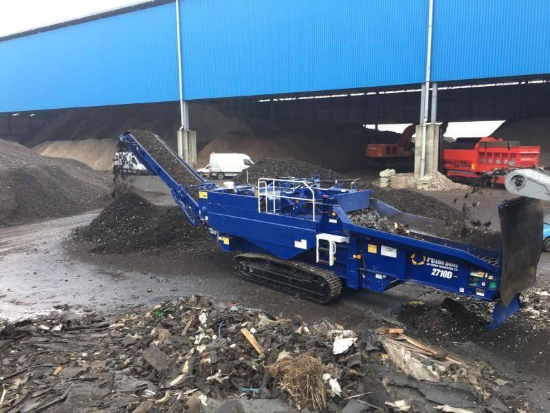 Peterson 2710D shredder geleverd aan Van Bentum/Recycling Kombinatie REKO