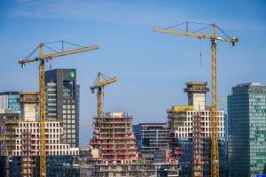 Liebherr torenkranen Amsterdam Nederland