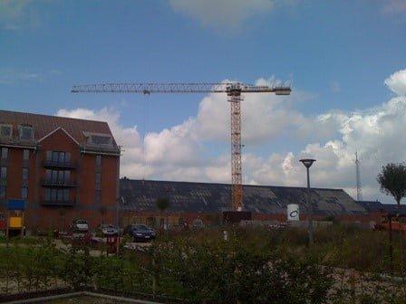 Delivery Liebherr second-hand flat-top crane by Van Der Spek Belgium