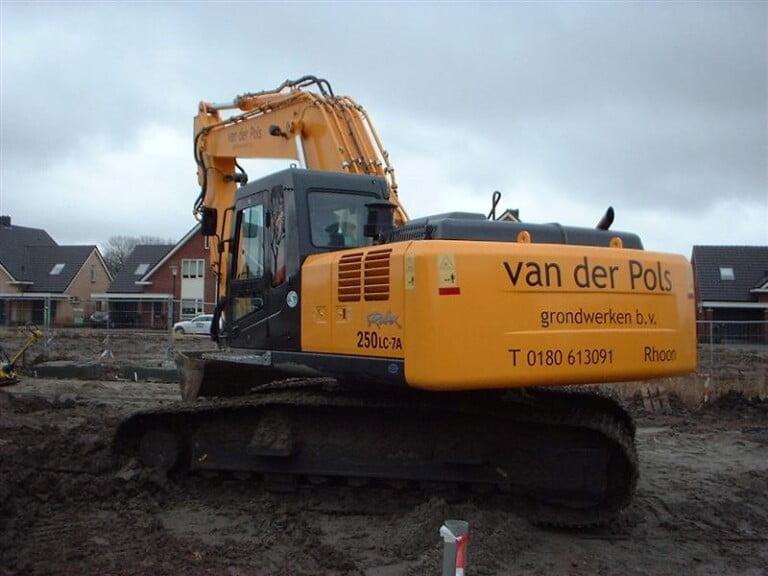 Hyundai R250LC-7A geleverd aan Van der Pols grondwerken B.V.  in Rhoon