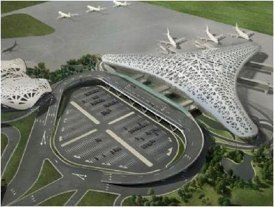 Van der Spek livre 3 grues e tour d'occasion Liebherr 630 EC-H20 e l'aeroport de Baku