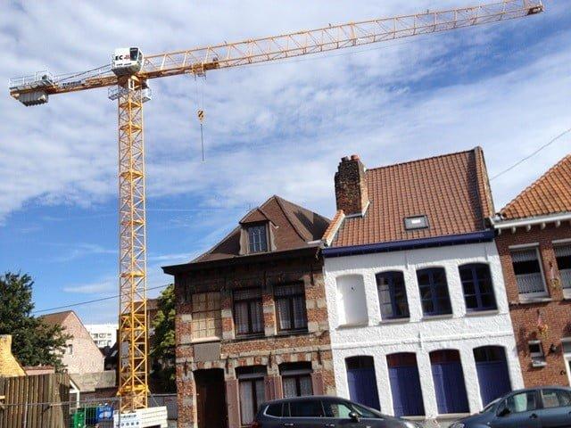 Neuer Flat-Top Kran fuer die Firma Tradeco in Mouscron