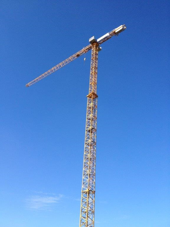 New tower crane from our rental fleet erected for the company Janssen