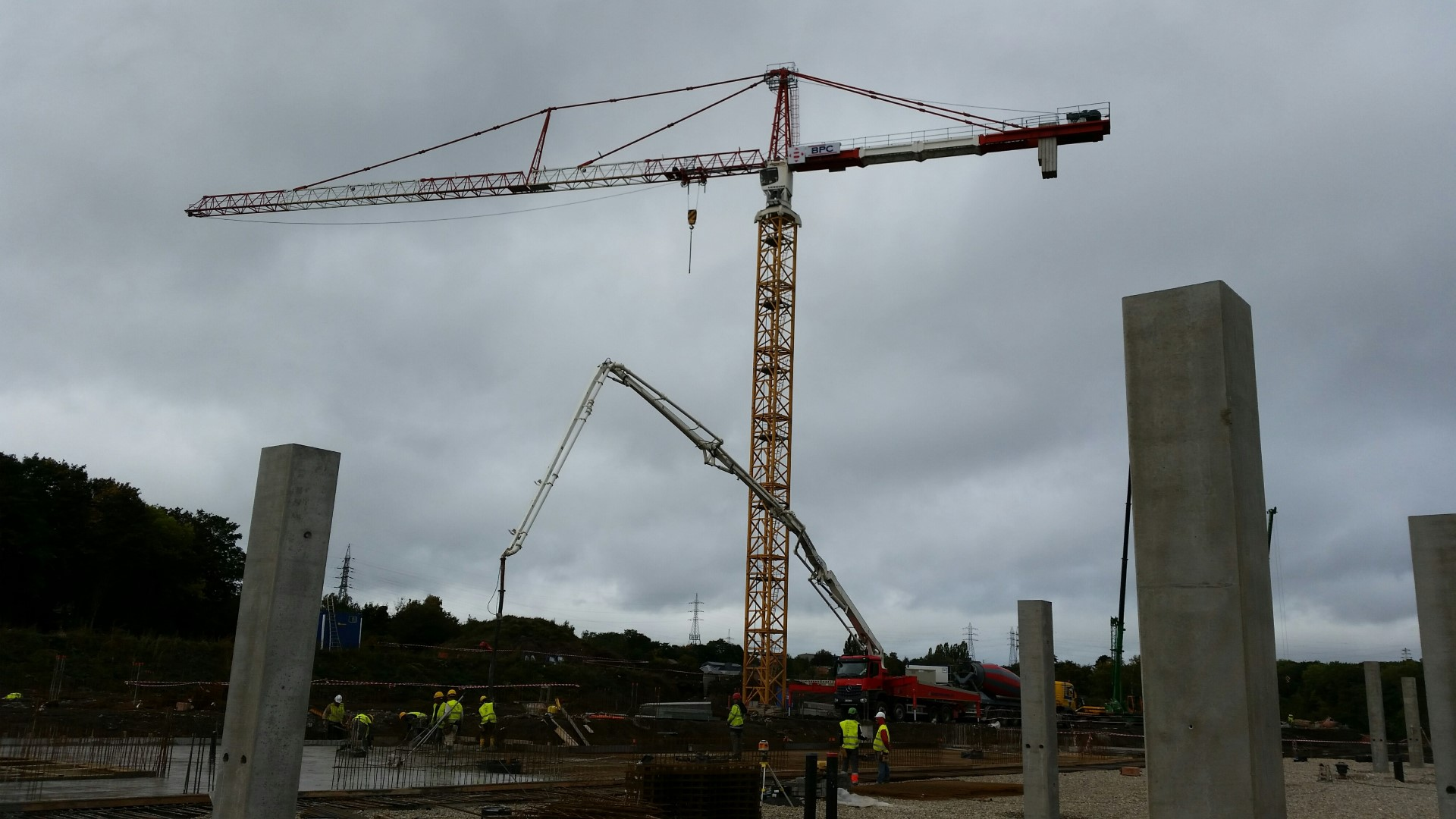 Second-hand tower crane for the company Benelmat