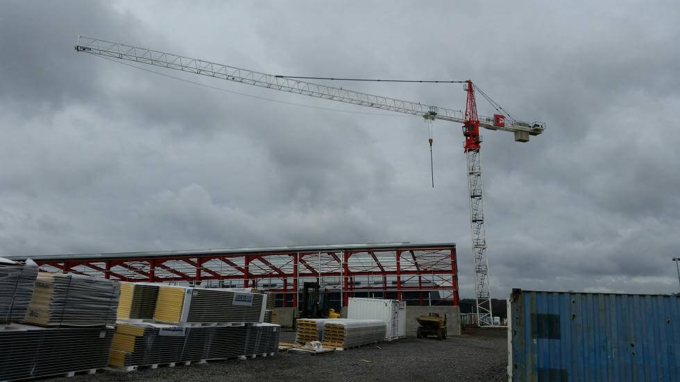 Revised tower crane for the company Thomas & Piron