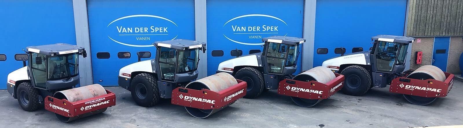 Dynapac walsen bij Van der Spek